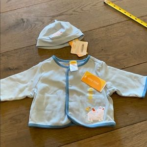Boys Gymboree Jacket and Hat 0-3 months/preemie